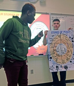 NewGen Peacebuilders Mini Workshop GLA at Vance HS (3)_Stories Exercise_Jan 2016