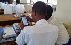 Students use tablets Pivot Academy